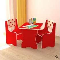 Детский набор стол-стул красного цвета., в Хабаровске