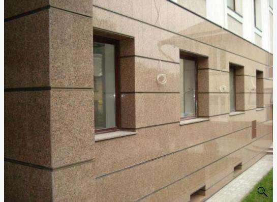 Монтаж вентилируемого фасада из натурального гранита