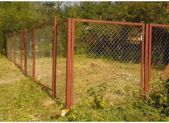 Забор из профнастила, рабицы