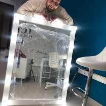 Гримерное зеркало с лампочками на заказ, в Москве