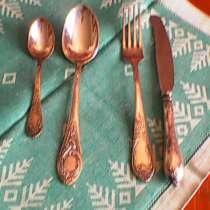 Серебрянные ложки вилки ножи чайные ложки в комплекте совет, в г.Баку