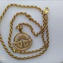 Золотая цепочка с кулоном 585проба, в г.Баку