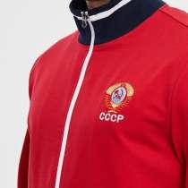 Спортивный костюм мужской, с символикой СССР, 794, красный, в Москве