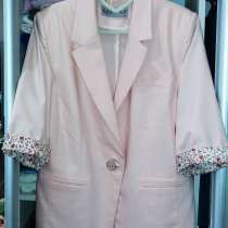Пиджак летний без подкладки, ткань стрейч, в Санкт-Петербурге