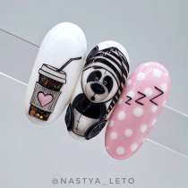 "NailArt картина миниатюра ""Bye Bye my Panda"", в г.Токио"
