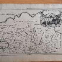 Старинная литография 17 век, в Санкт-Петербурге