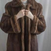 Шуба женская норковая, размер 50-52, цвет светло-коричневый, в Красноярске