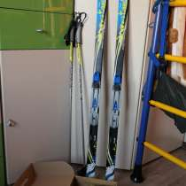 Лыжи детские, крепления, палки, ботинки - Fischer-Snow, в Чите