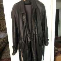 Продам кожаный плащ, в Новосибирске
