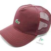 Бейсболка кепка Lacoste (бордовый) сетка, в Москве