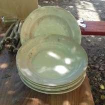 Тарелка глубокая 24 см, толстостенная, светло бежевая,210 шт, в Таганроге