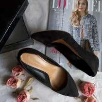Замшевые черные туфли, лодочки, в г.Днепропетровск