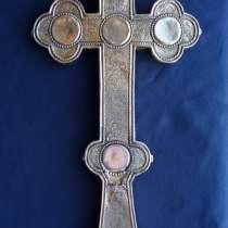 Старинный напрестольный крест. Серебро 84. xviii в, в Санкт-Петербурге