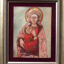 Картина, икона Санта Северина, медь, горячая эмаль. 25х18 см, в Калуге