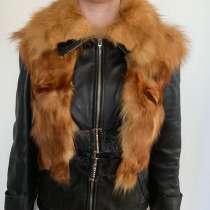 Куртка кожаная с лисой, в Кудрово