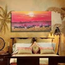 Картина маслом Африканский закат, в Москве