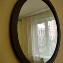 Круглое зеркало в деревянной раме 70 см, в г.Минск