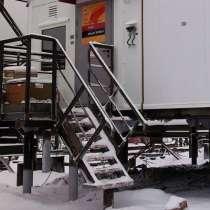 Лестница стальная МЛГВ 45-900.1750 на винтовых сваях, в Перми