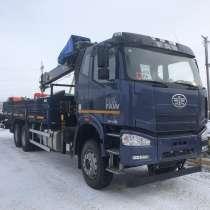 FAW CA 3250, J6P, 6х4 с КМУ HIAB 190TM-6, в Челябинске