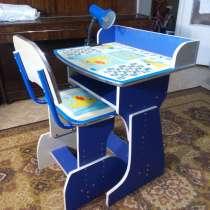 Продается парта + стул + настольная лампа, в Севастополе