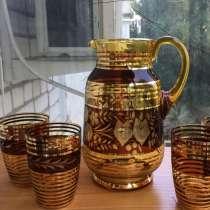 Кувшин и 3 стакана Богемия, в Краснодаре