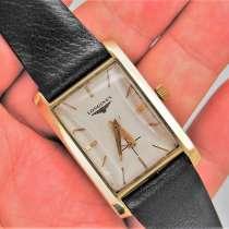 Мужские винтажные золотые наручные часы 14k Longines, в Москве