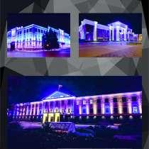 Подсветка фасадов зданий, в Владивостоке