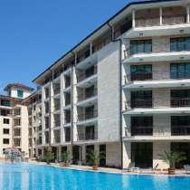 Студия 46м2 с выходом в бассейн в Болгарии, Солнечный Бряг, в г.Бургас