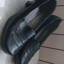 Туфли женские черные кожаные, в Самаре