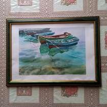 """Картина ручной работы """"Лодки в Балаклаве"""", в Москве"""