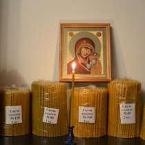 Свечи полувосковые, восковые медовые, праздничные восковые, в г.Ульсан