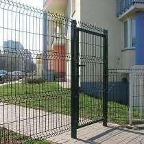 Калитка из сварной 3Д панели RAL6005, в Краснодаре