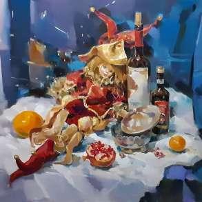 """Картина """"Новогодняя ночь"""", продаю, в Нижнем Новгороде"""
