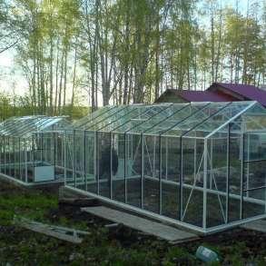 Алюминиевая теплица под стекло АСГ 18, в Москве