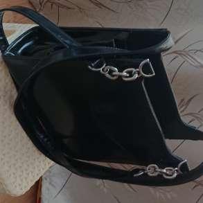 Сумка женская кожаная черная лакированная CAGIA, в Самаре