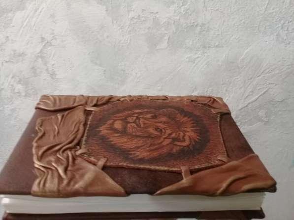 Кожаный ежедневник. Лев. Натуральная кожа. handmade в Барнауле фото 6