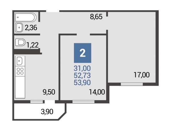Квартира с отделкой в строящемся доме в районе ЗИП