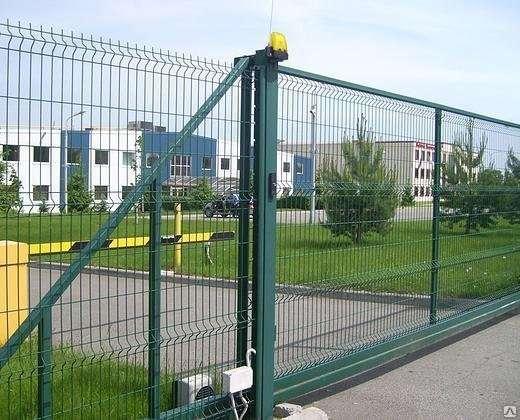 Автоматические откатные ворота 2030х4000 мм Полимер