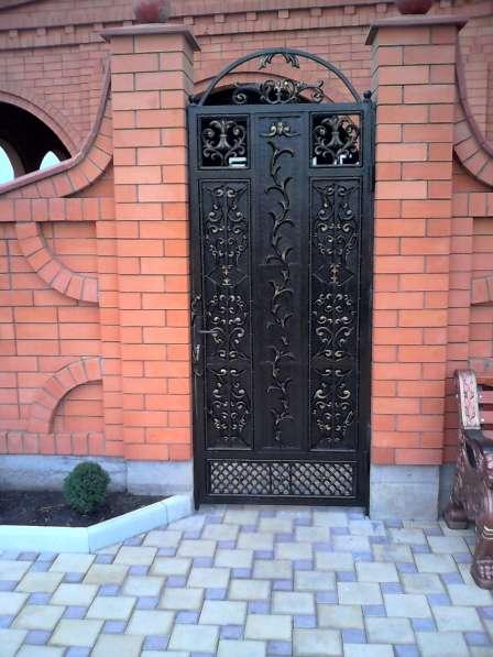 Ворота алюминиевые кованые