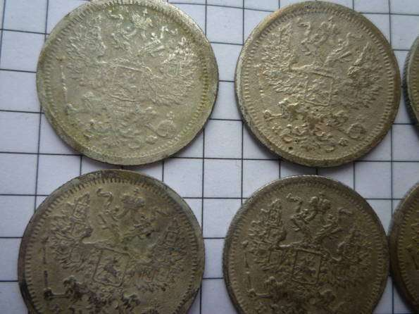 20 копеек 1878 год (6шт.). Серебро