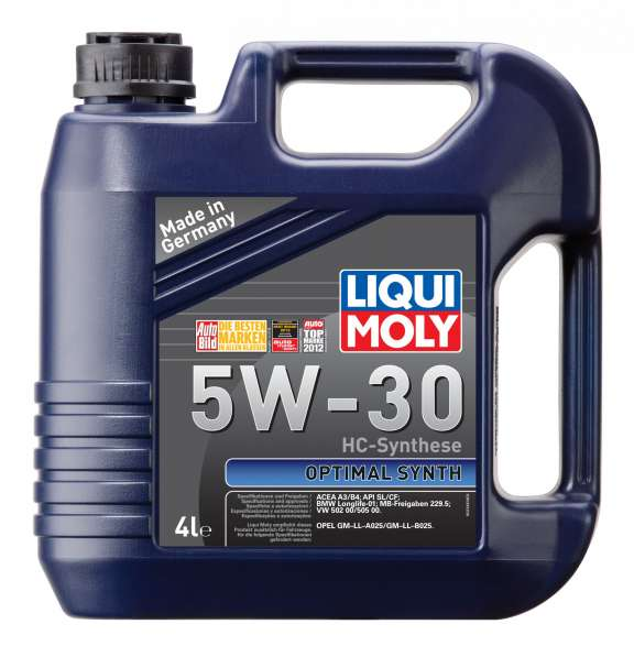 Масло Liqui Moly Optimal Synt 5W30 синтетика 4 литра