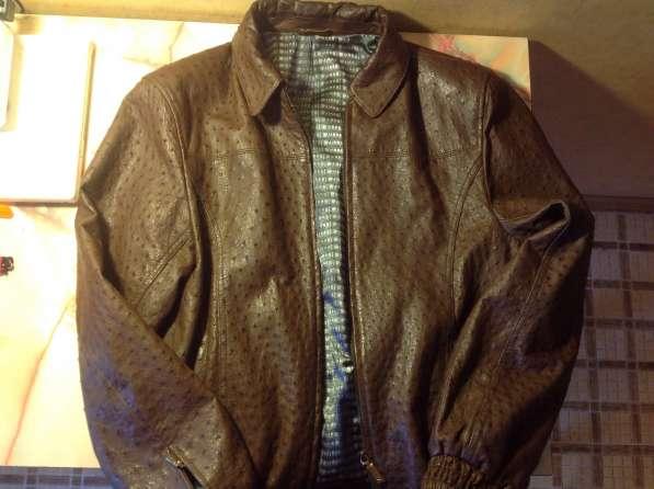 Кожаная куртка из страуса (мужская 46-48