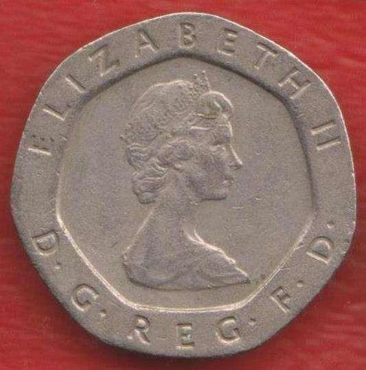 Великобритания Англия 20 пенни 1982 г. Елизавета II в Орле