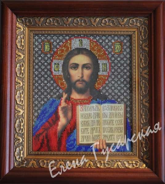 Вышитая икона Спасителя