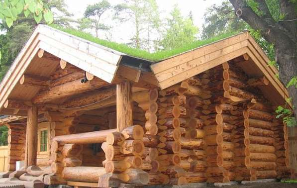 Дома из бревна рубленного и оцилиндрованного