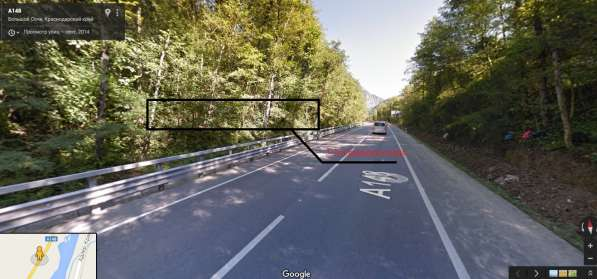 Земельный участок по дороге в Красную Поляну на 17-ом. км