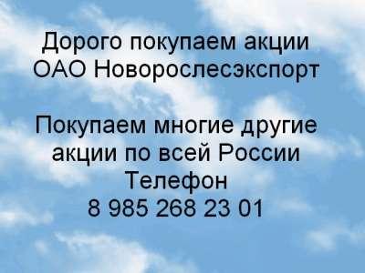 Куплю Дорого покупаем акции ОАО Новорослесэксп