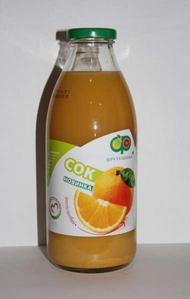"""Натуральный, 100% апельсиновый сок """"Фрутаминка"""""""