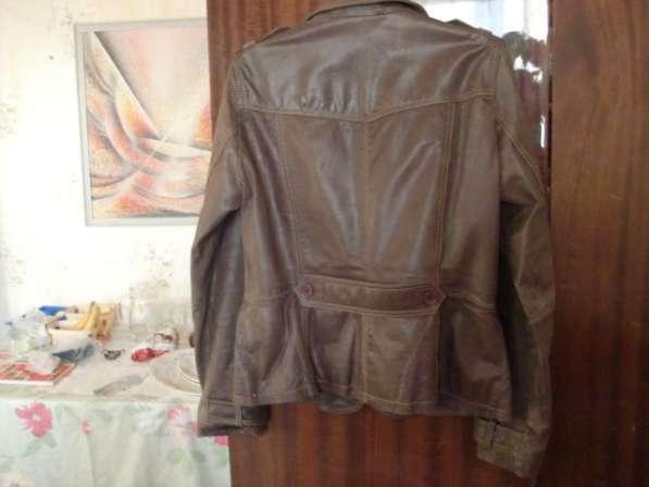 Женская кожанная куртка-френч(привозная) в Москве