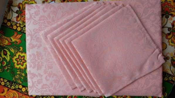 Скатерть Розовая, ткань Журавинка